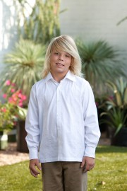 Kids Latin Style Embroidered Cotton Guayabera - Long Sleeve
