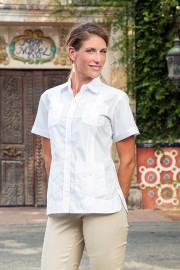 Womens Cotton Poly Guayabera
