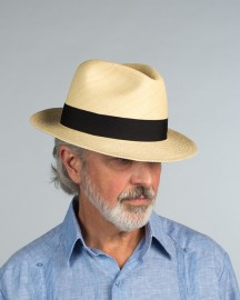 Traditional Snap Brim Panama Hat in Natural Finish from Scalia